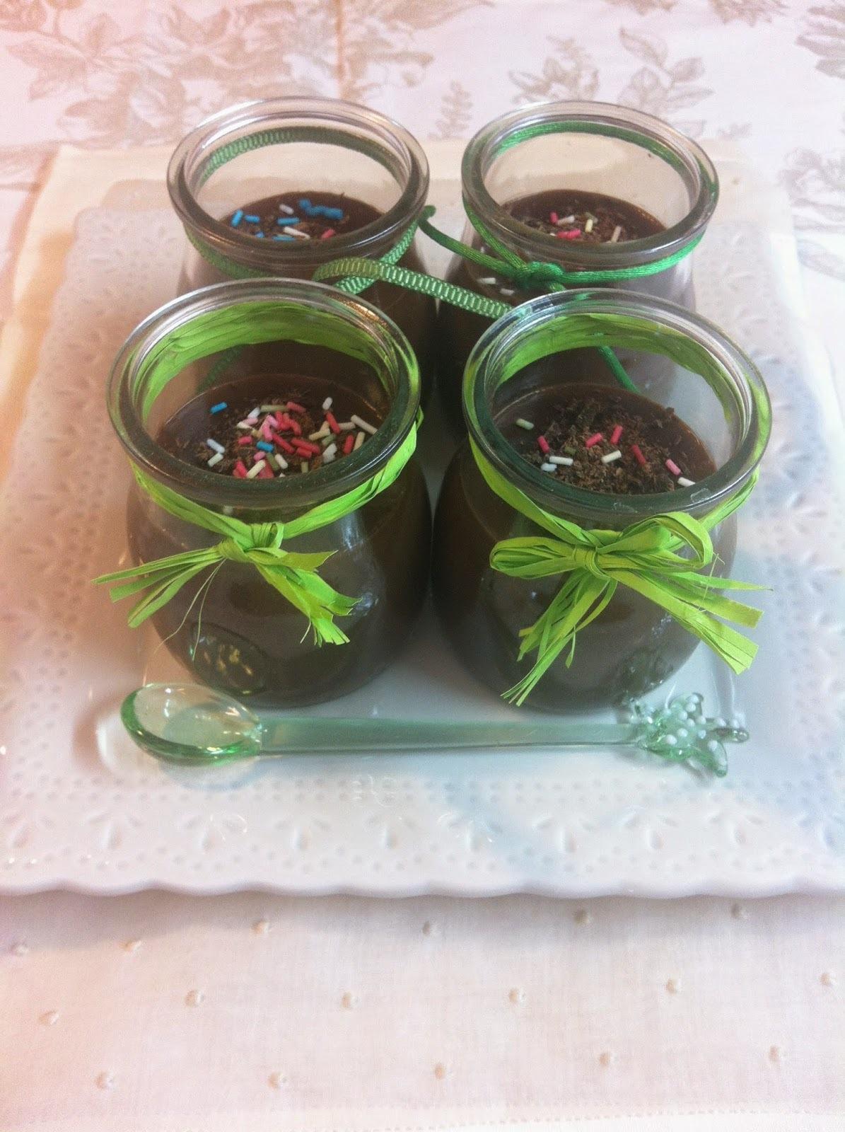 Vasitos De Crema De Chocolate
