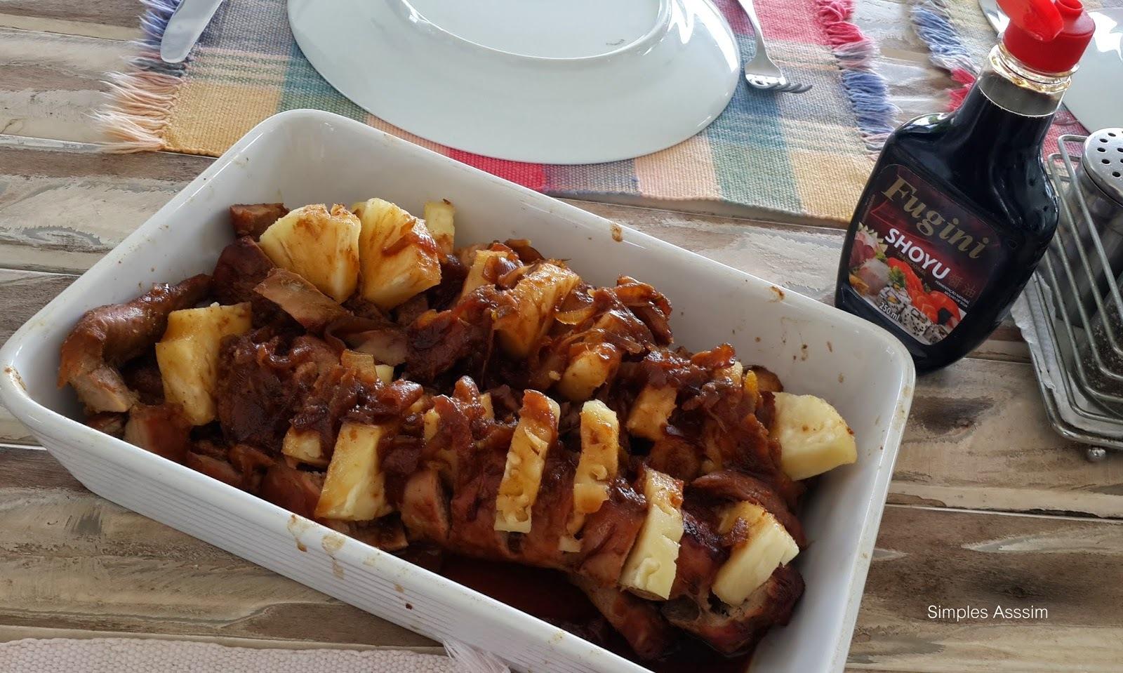 Sugestão para a Páscoa - Filé de Porco com Abacaxi