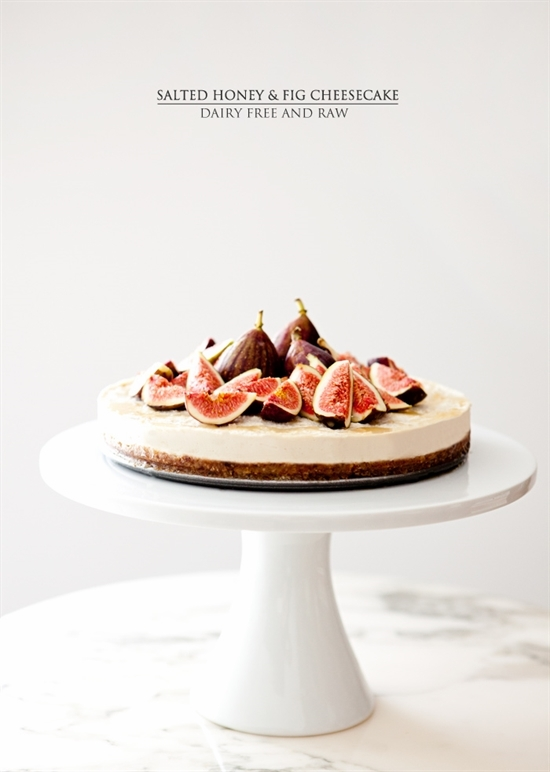 Oh My Goodness! - Salted honey and fig cheesecake