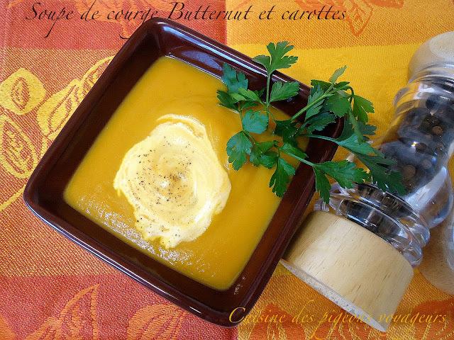 Soupe de courge Butternut et carottes