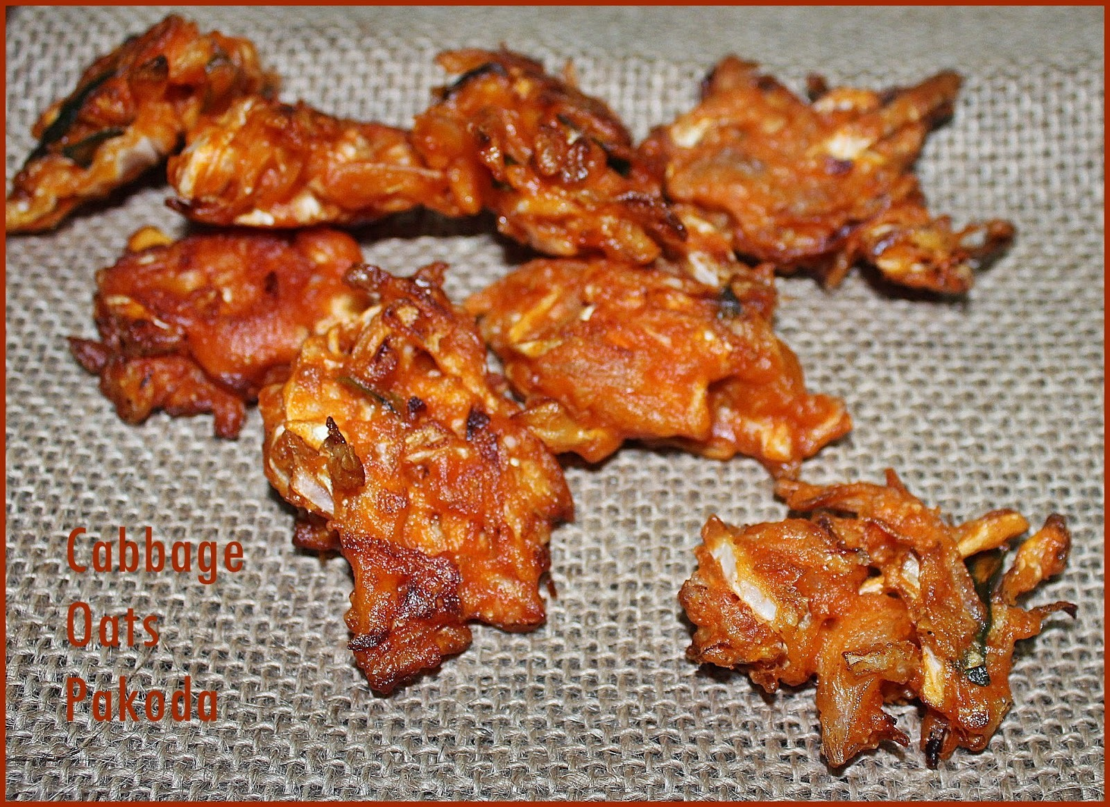 Oats Cookery Workshop Part 5 :Recipe No: 7 - Cabbage Oats Pakoda
