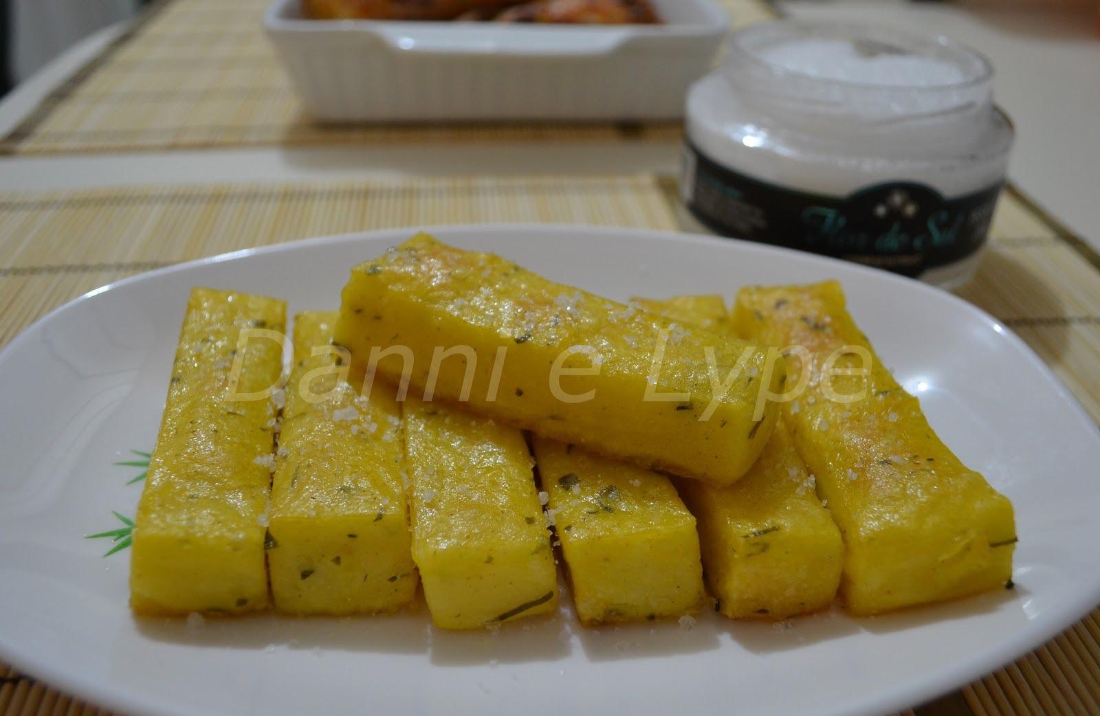polenta assada crocante