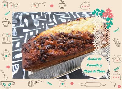 Receta Rápida y Fácil de Budín con Chips de Chocolate.