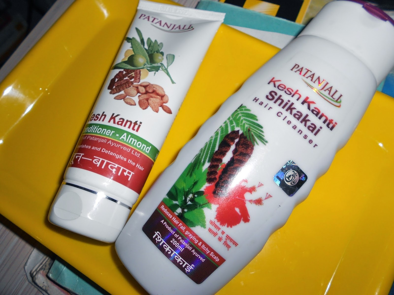Patanjali Shikakai Hair Cleanser & Olive - Almond Conditioner Rave Reviews
