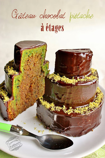 Gâteau chocolat pistache à étages
