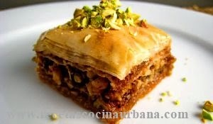 Como preparar pasteles árabes con pistacho