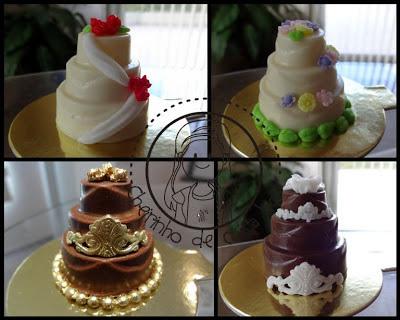 Mini bolos de casamento (trufas)
