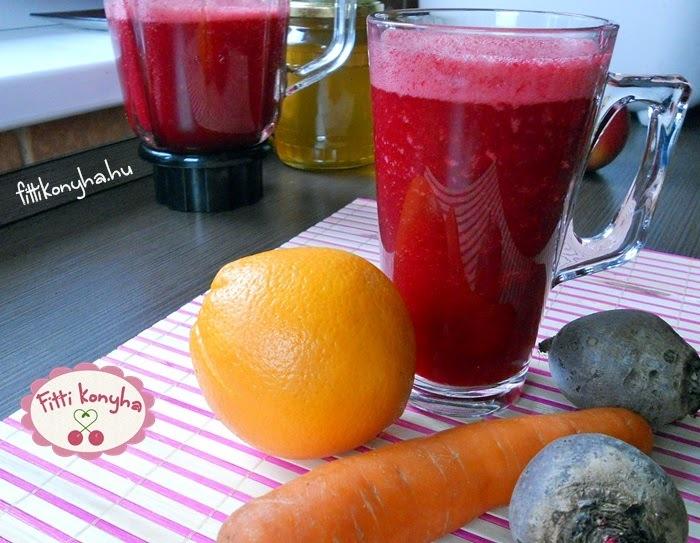 Cékla-répa zöldségturmix naranccsal és fahéjjal
