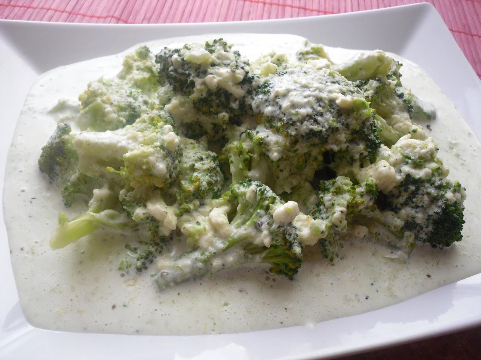 Brokolica so syrovo-cesnakovým krémom
