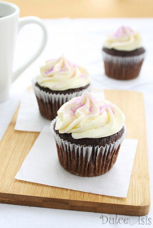 Cupcakes de Maiz Morado