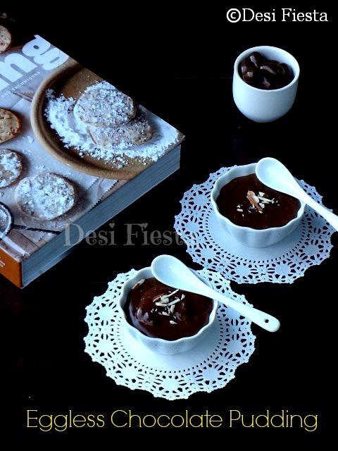 Eggless Chocolate Pudding using Custard Pd