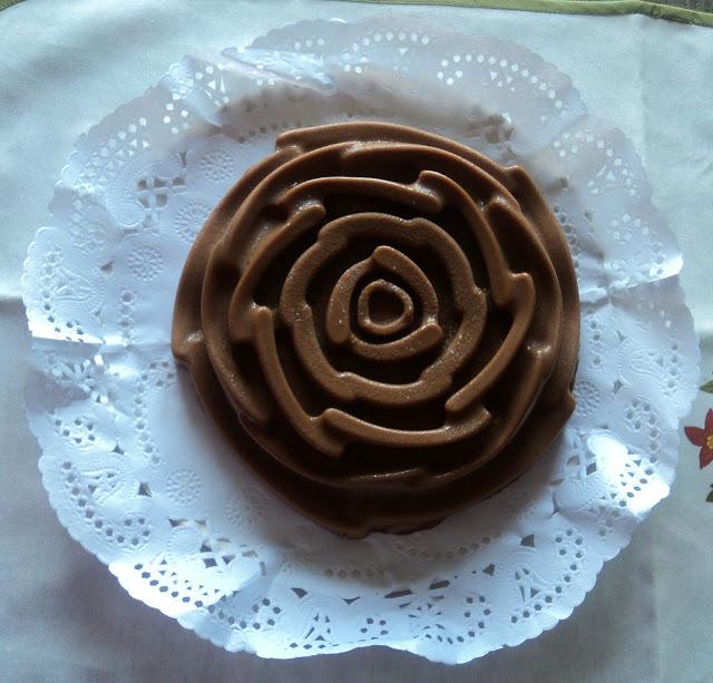 Tarta flan de chocolate y queso * Cumpleaños de mi marido