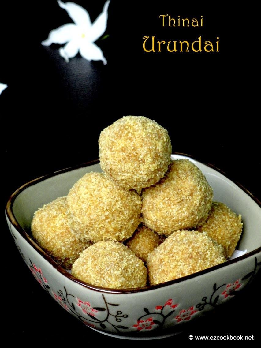 Thinai Urundai | Foxtail Millet Ladoo Recipe
