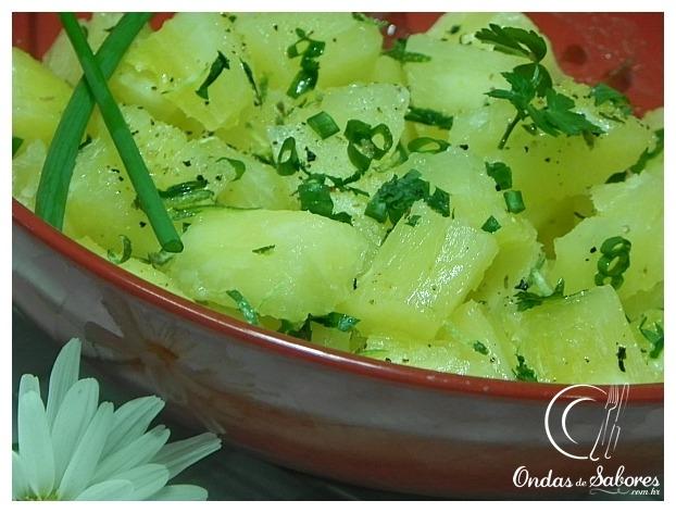 Salada de Aipim... bem temperadinha