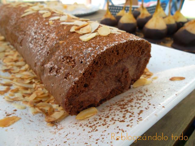 BRAZO DE GITANO DE CHOCOLATE CON CREMA DE MASCARPONE AL CHOCOLATE