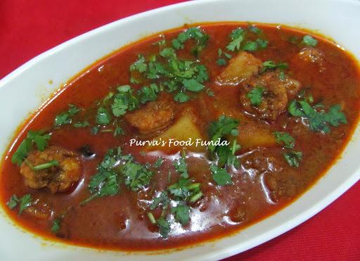 prawn brinjal curry
