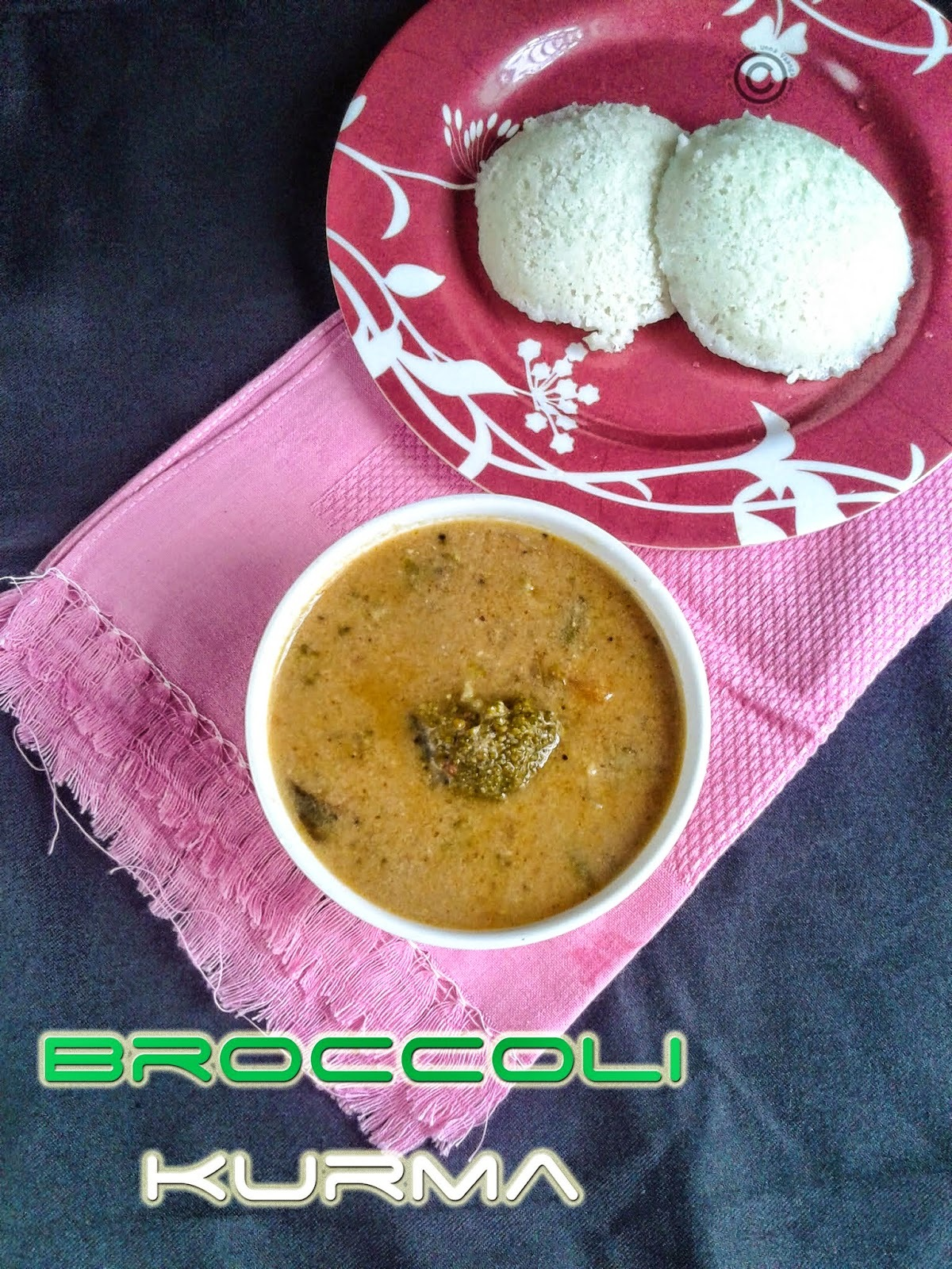 BROCCOLI KURMA I MIXED VEGETABLE KURMA I SIDE DISH FOR IDLI DOSA & CHAPATHI