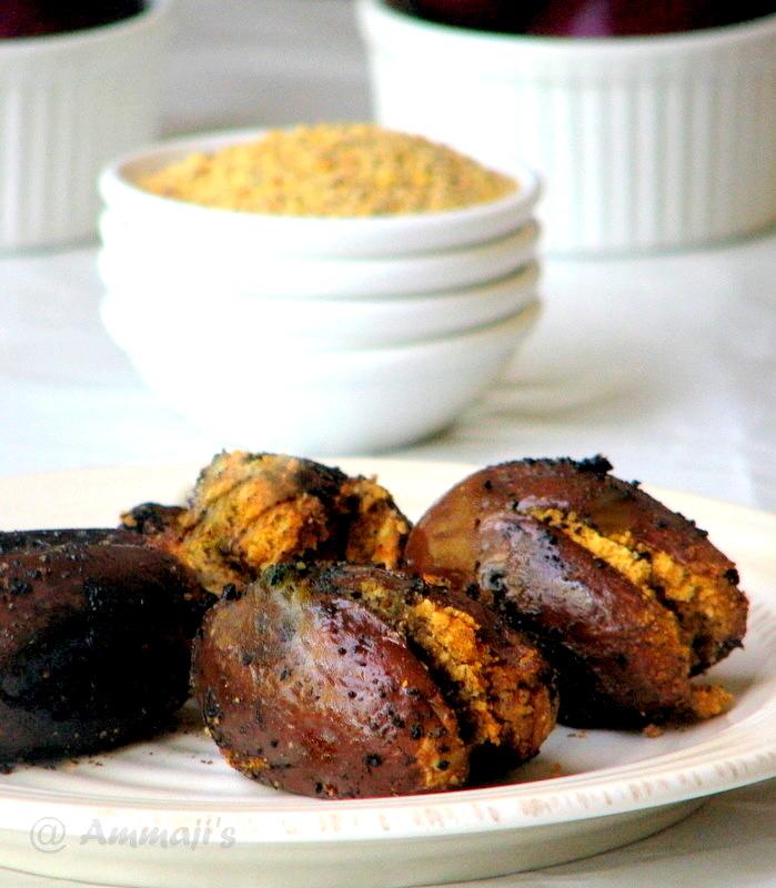 Gutti Vankaya Koora kaaram Petti | Stuffed Brinjal Curry | Baingan sabji