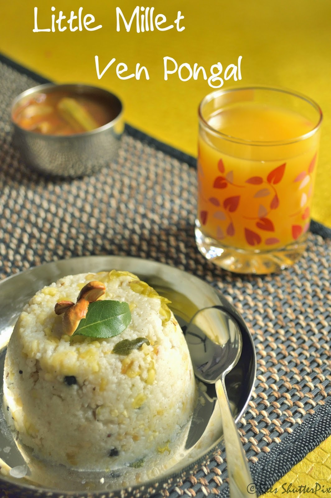 Samai Ven Pongal Recipe   Breakfast Recipes   Easy Millet Recipes