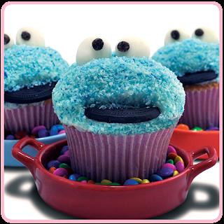 Monster Cupcake  - Vila Sésamo