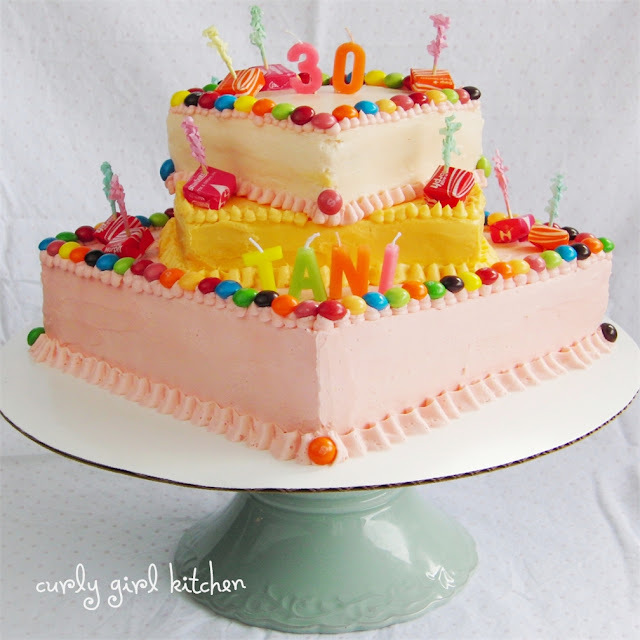 Tie-Dye Starburst Skittle Birthday Cake