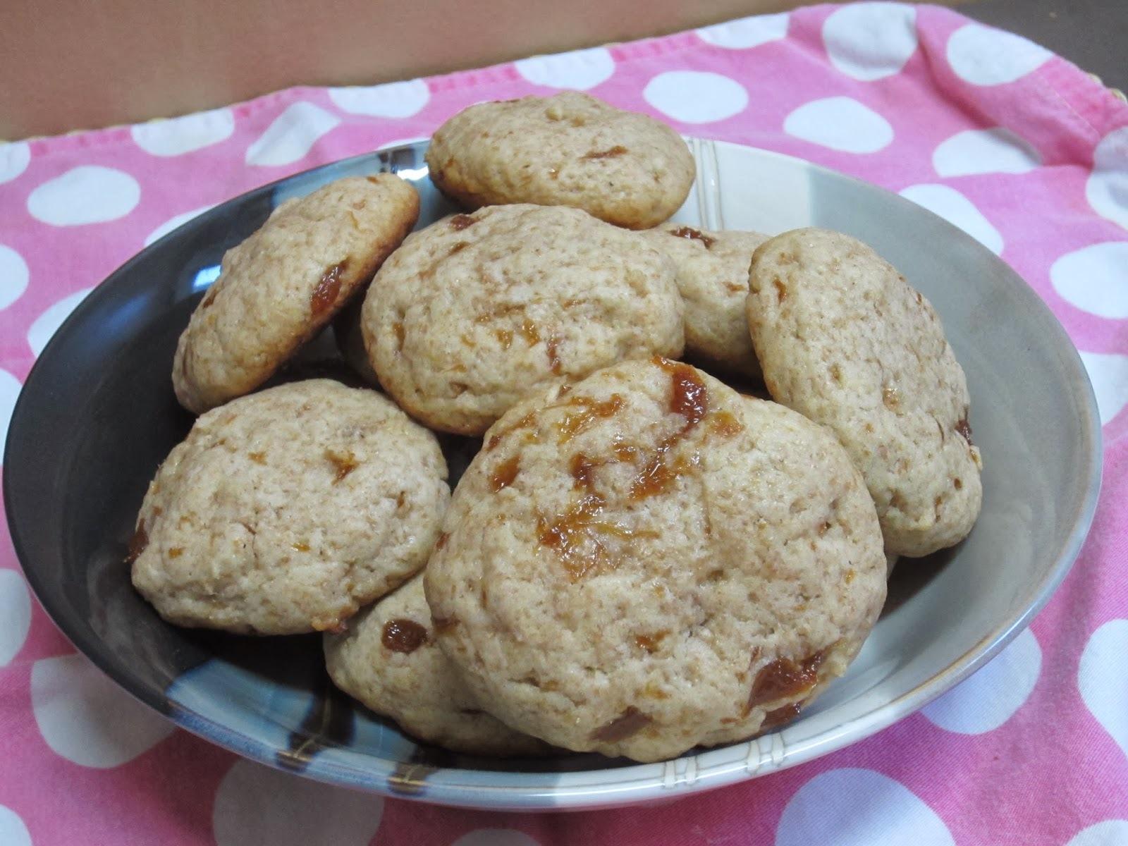 Saludables galletas de durazno