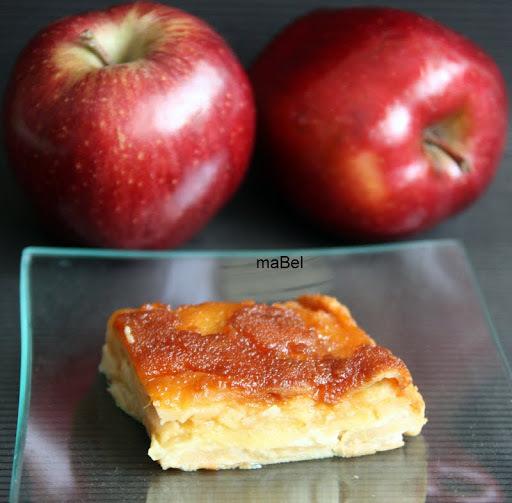 Pastel o gateau de manzanas invisible al caramelo