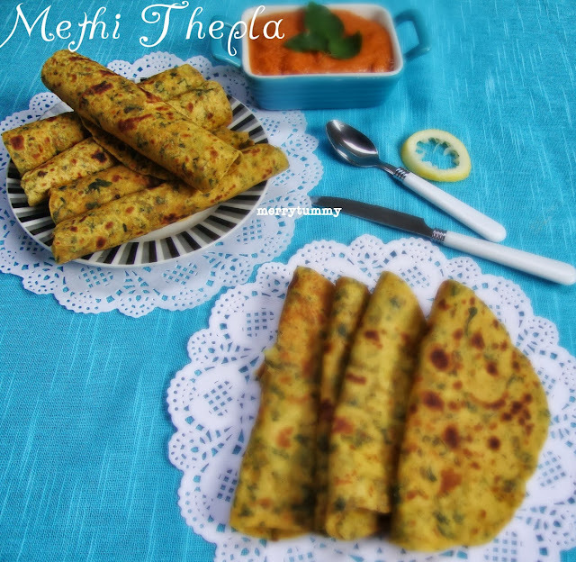 Methi Thepla/ Parathas, Fenugreek Leaves Indian Flat Bread