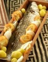 tainha recheada com camarão assada no forno
