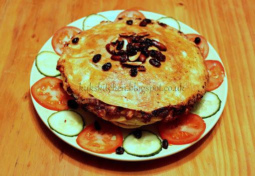 Keralan lasagne     Crepe's layered with chicken       Chatti pathiri    Chatti pathil     Adukku roti     Ottada      Kukskitchen