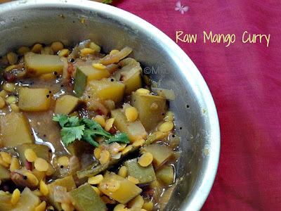 Maangai pachadi - Raw Mango & Toor dal curry
