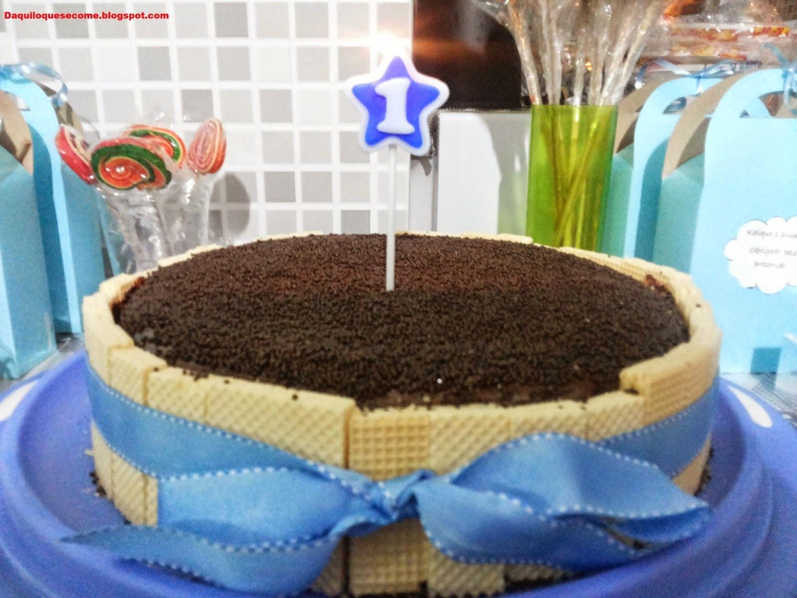 cobertura para bolo de aniversario azul