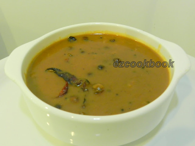 Vattha Kuzhambu / Dried Veggies Curry