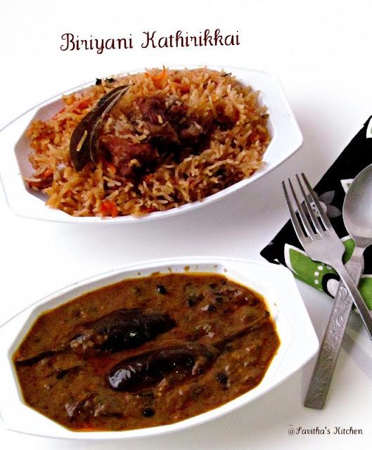 Biriyani Kathirikkai - Muslim's Style / Brinjal in tangy gravy - Best accompaniment for biriyani