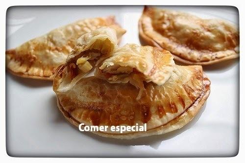 Empanadillas de pollo con verduras al horno