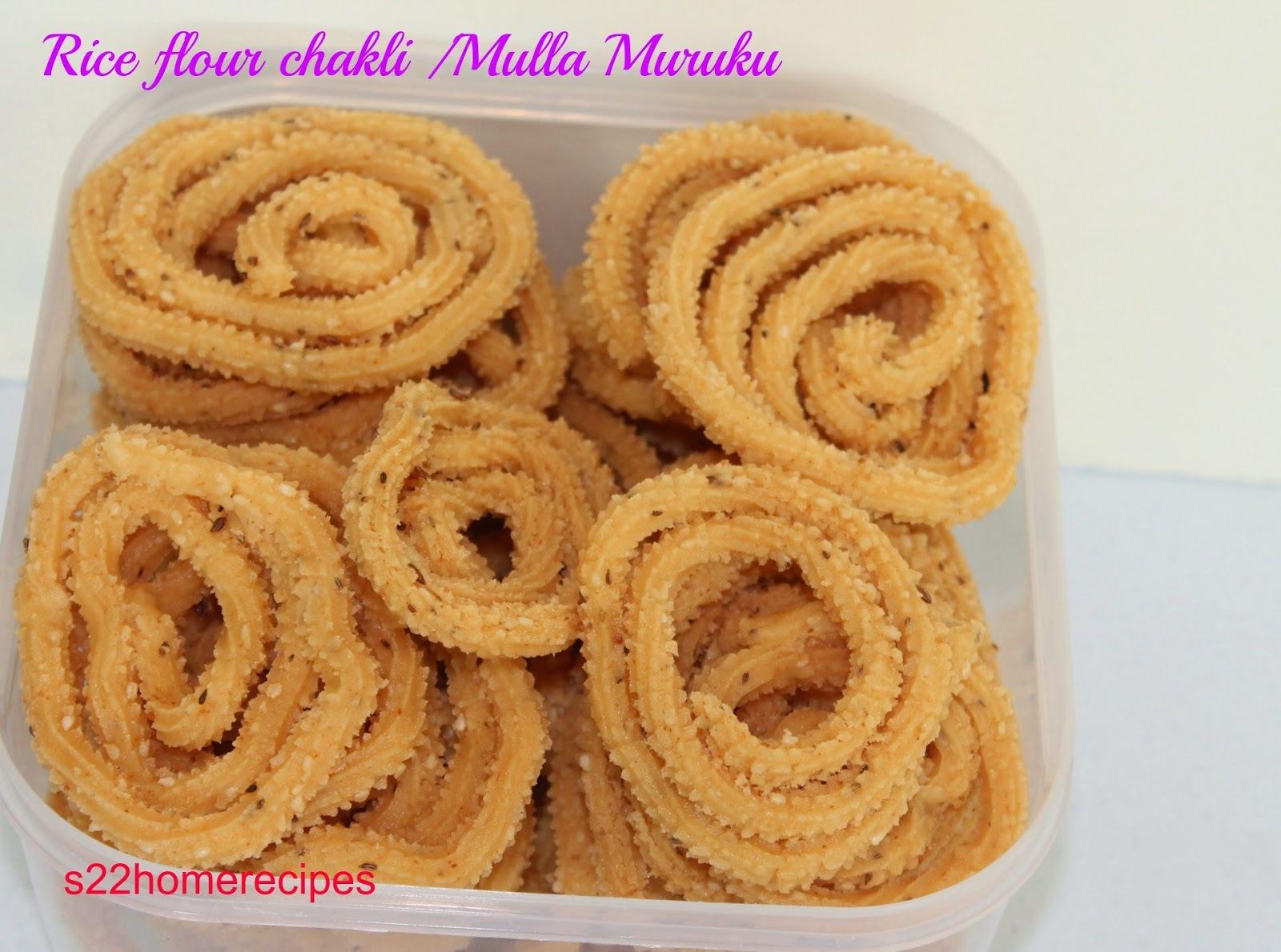 Rice flour chakli /Mulla Muruku