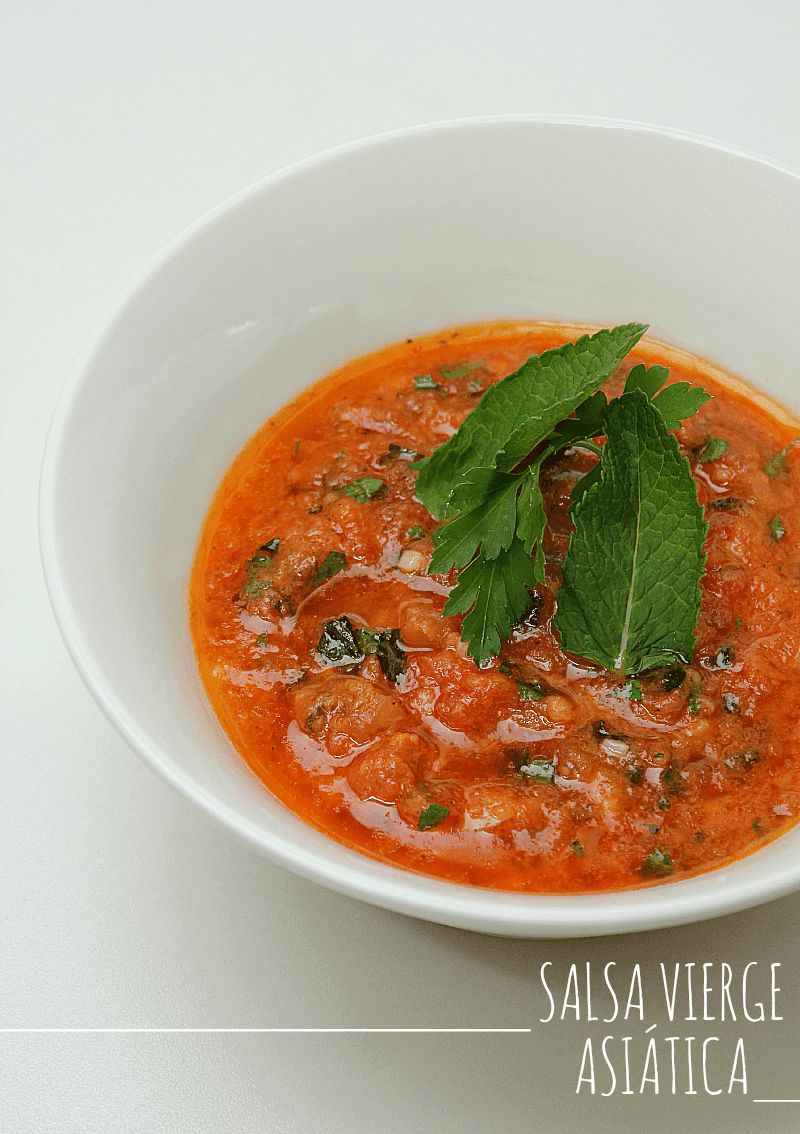 Salsa Vierge asiática