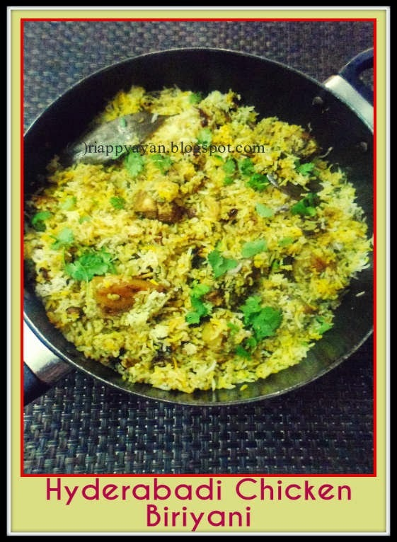Hyderabadi Chicken(pakki) Biriyani