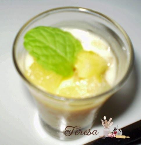 sobremesa de abacaxi sem gelatina