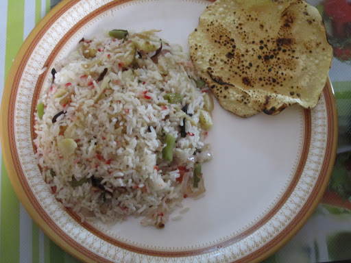 Colorful veg fried rice