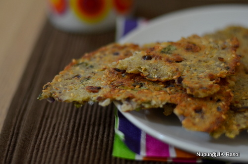 Sarva Pindi .. Rice flour flatbread