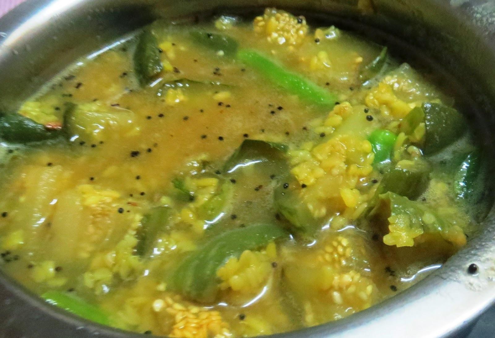 Brinjal Curry  (ಮಟ್ಟಿನ ಗುಳ್ಳ ಬೋಳು ಹುಳಿ)