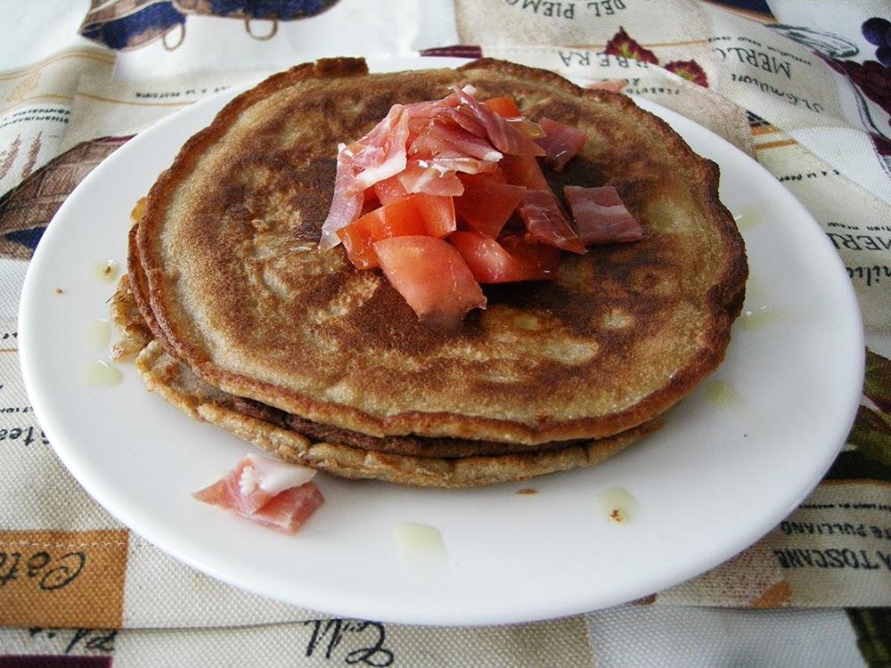 Pancakes a la catalana (amb farina de castanyes i coco)