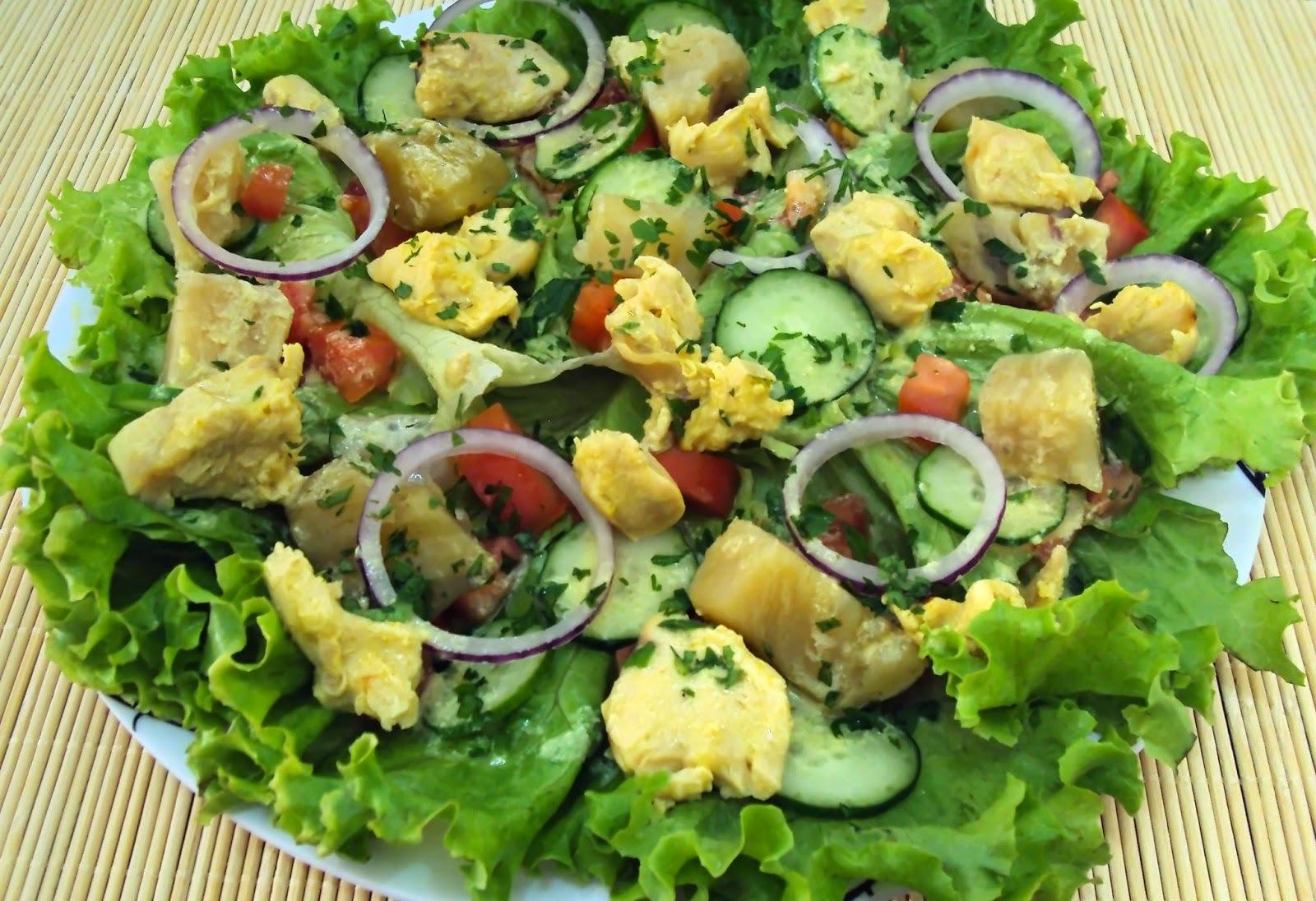 Salada Energizante de Batata Doce com Frango