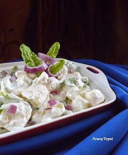 Mángoldos krumplisaláta