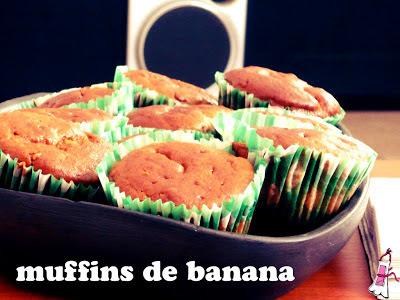 Muffins de banana dulces y crocantes!