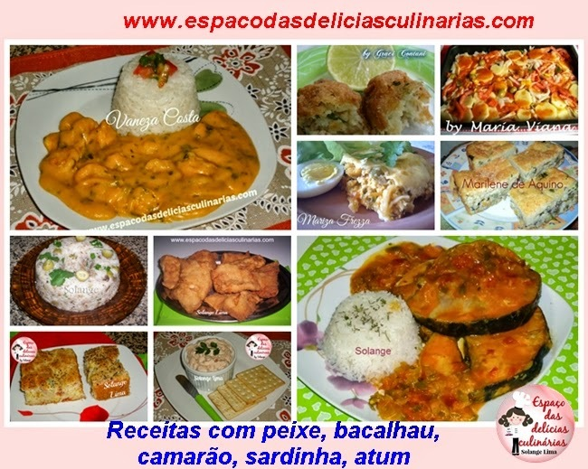 Receitas com peixe, bacalhau, camarão, sardinha, atum