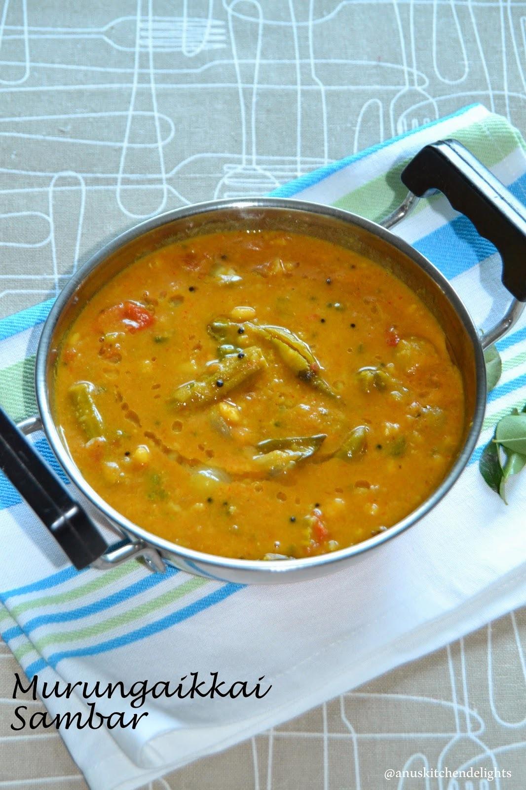 Sambar Recipe  - Drumstick and Shallots Sambar Recipe