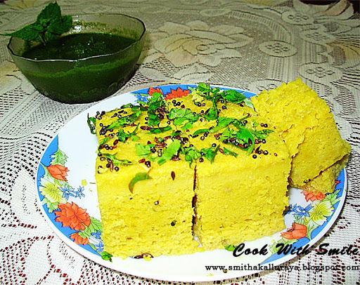 KHAMAN DHOKLA /SAVORY GRAM FLOUR CAKE