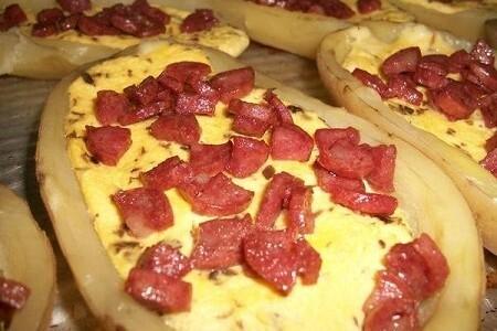 Canoas de Batatas Recheadas